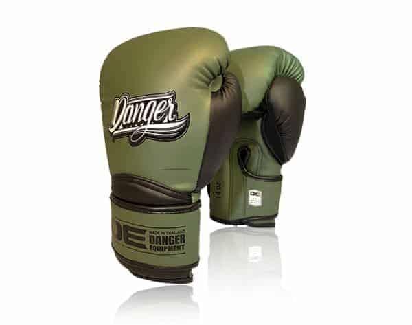 boxningshandskar i snygg militärgrön färg