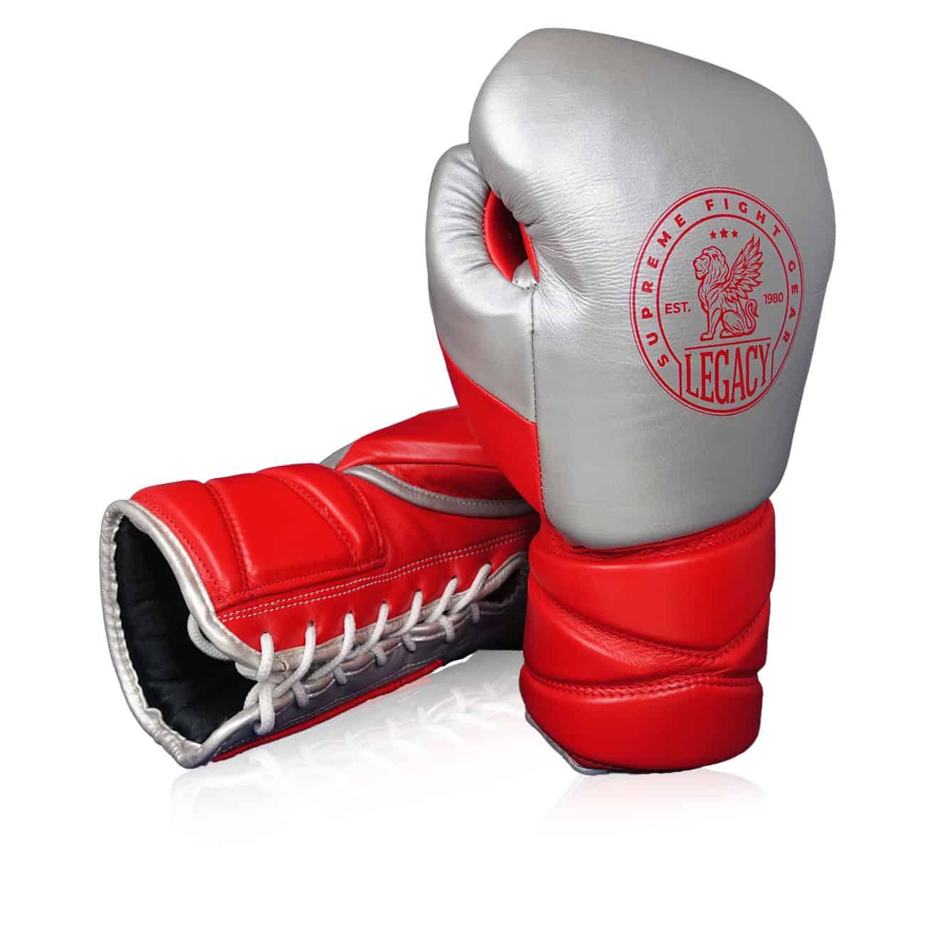 Boxninghandskar för sparring med snörning.