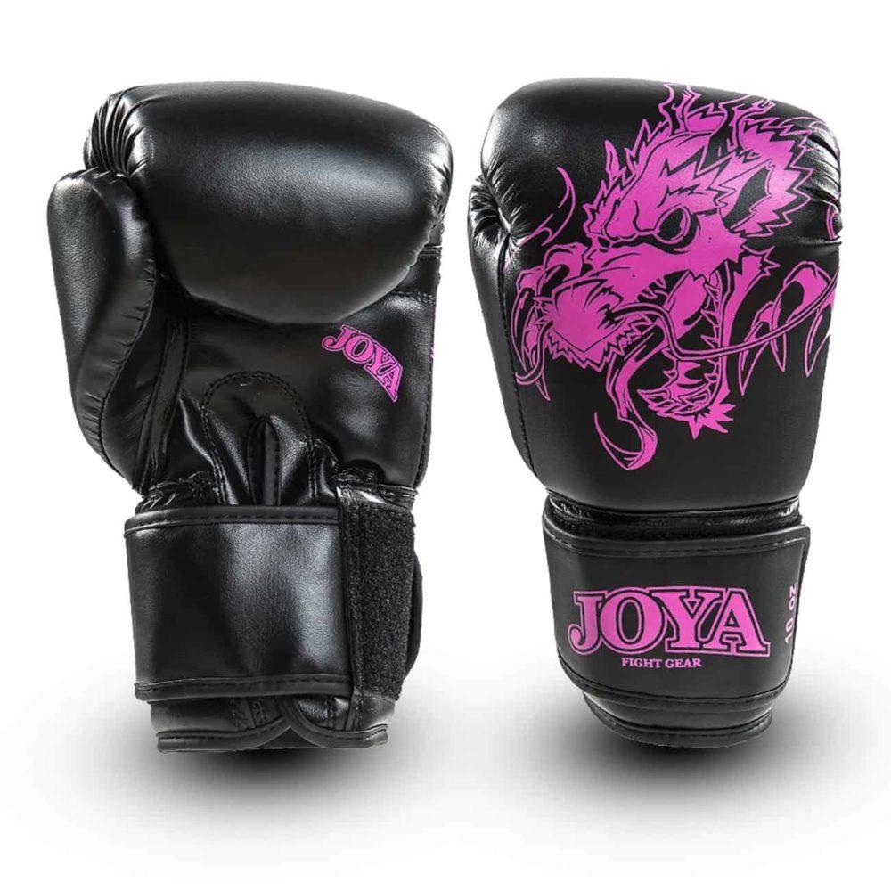 Boxningshandskar för barn, från Joya med rosa tryck. Kardborrelåsning för bra komfort