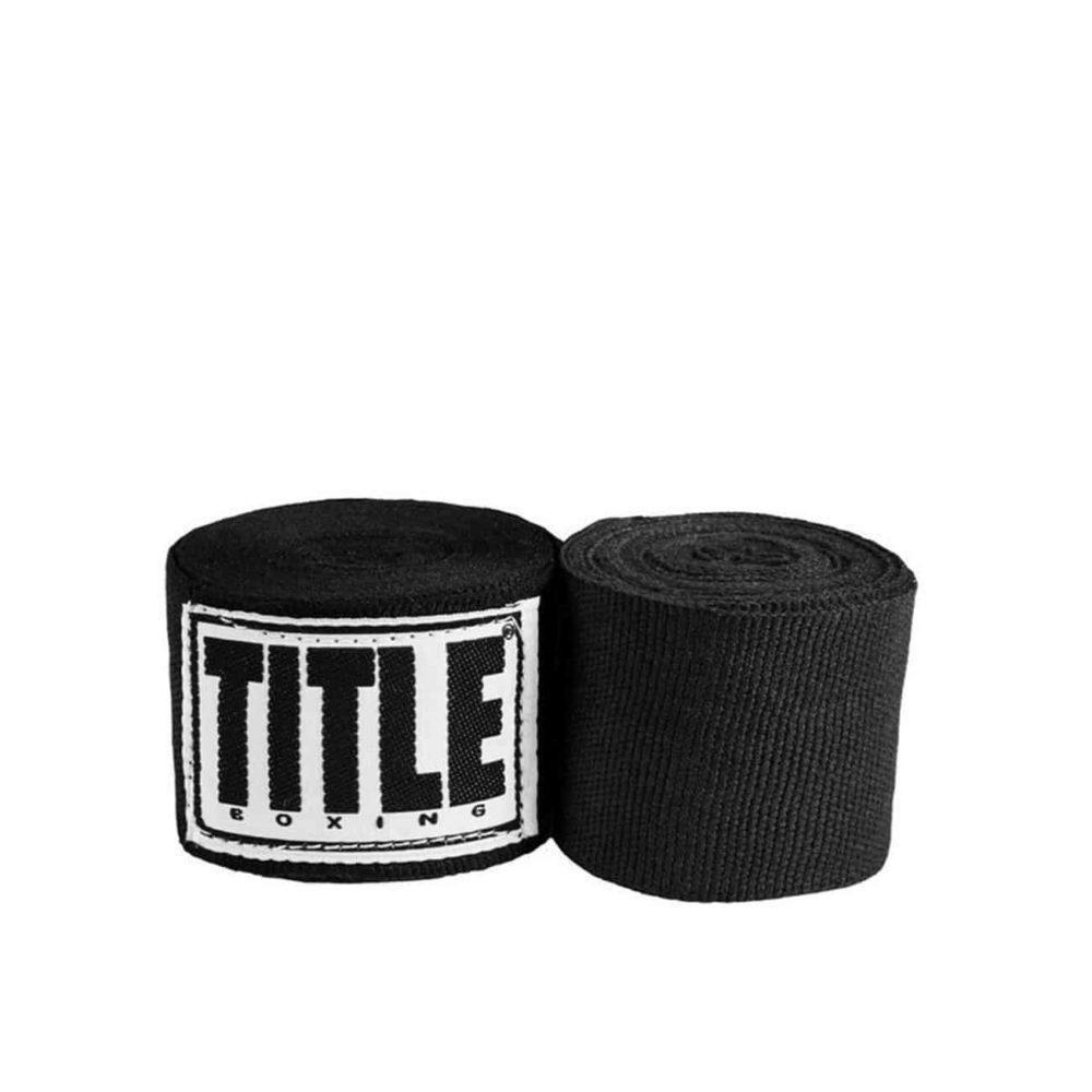 Svarta handlindor från Title Boxing. 4,5m långa, 5cm breda