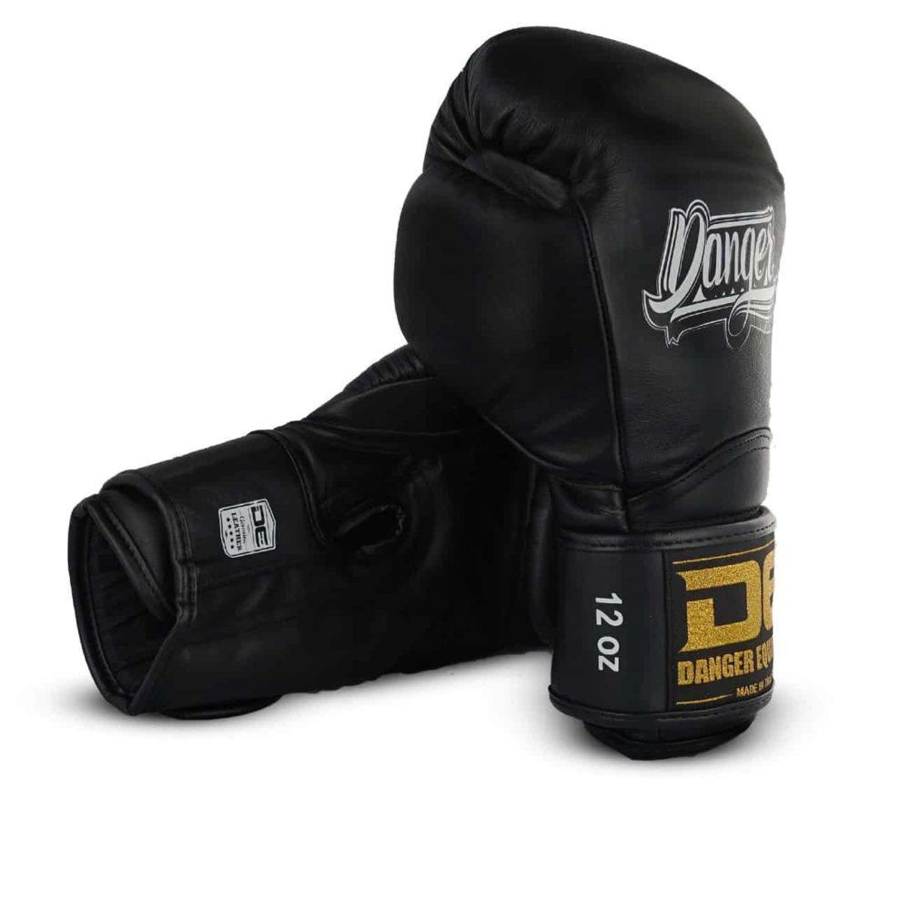 Boxningshandske i svart läder