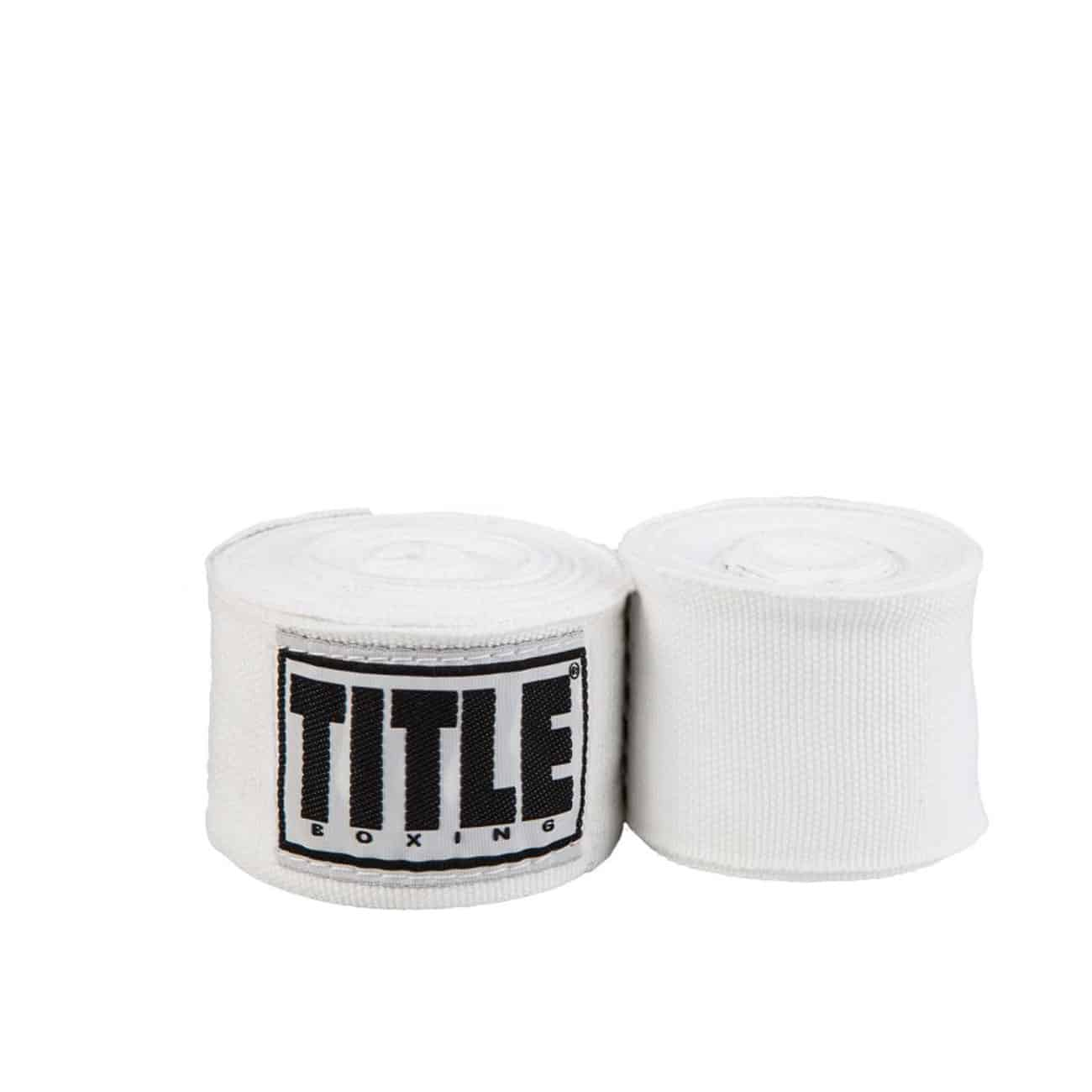 Vita handlindor från Title Boxing. 4,5m långa, 5cm breda