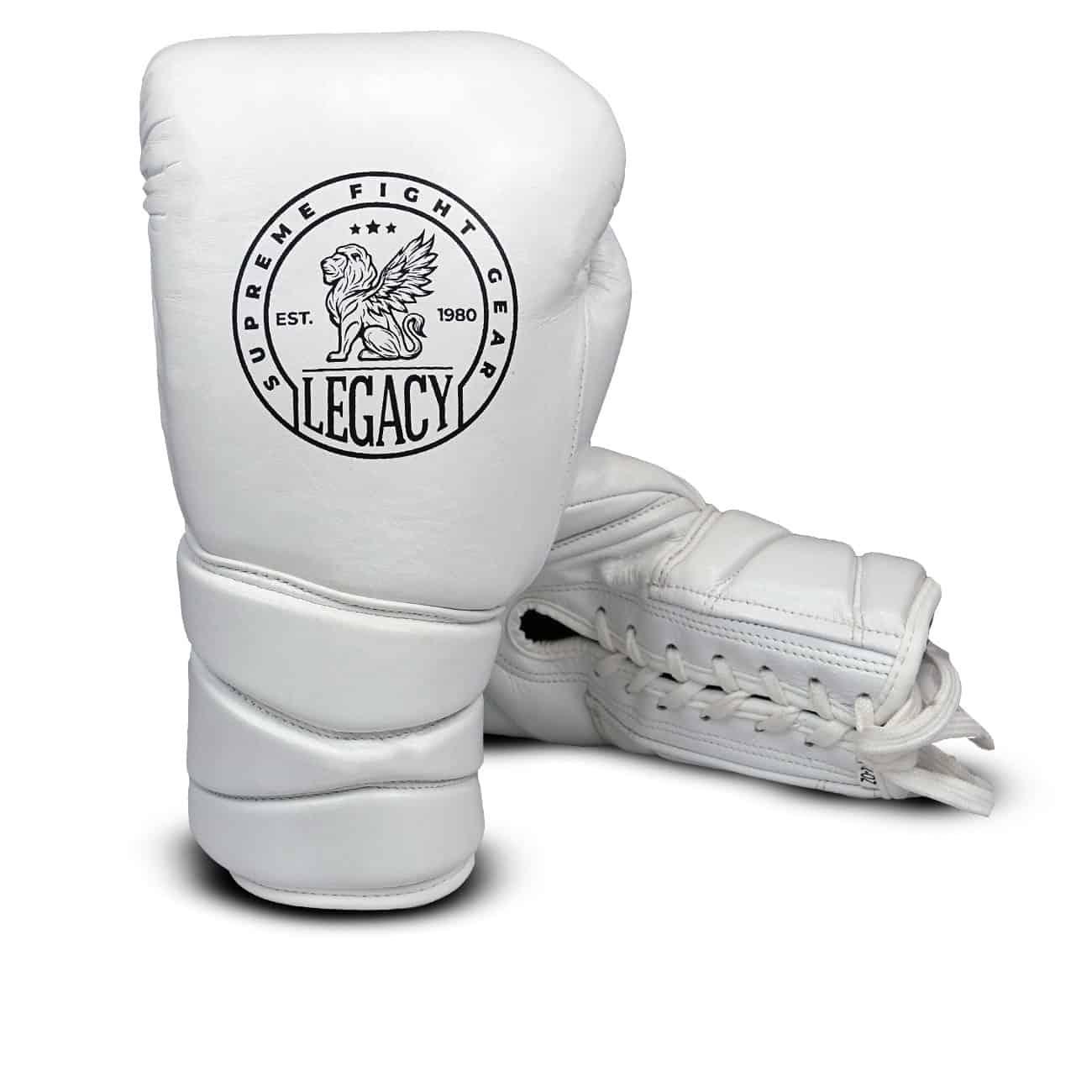 Vita boxingshandskar för sparring
