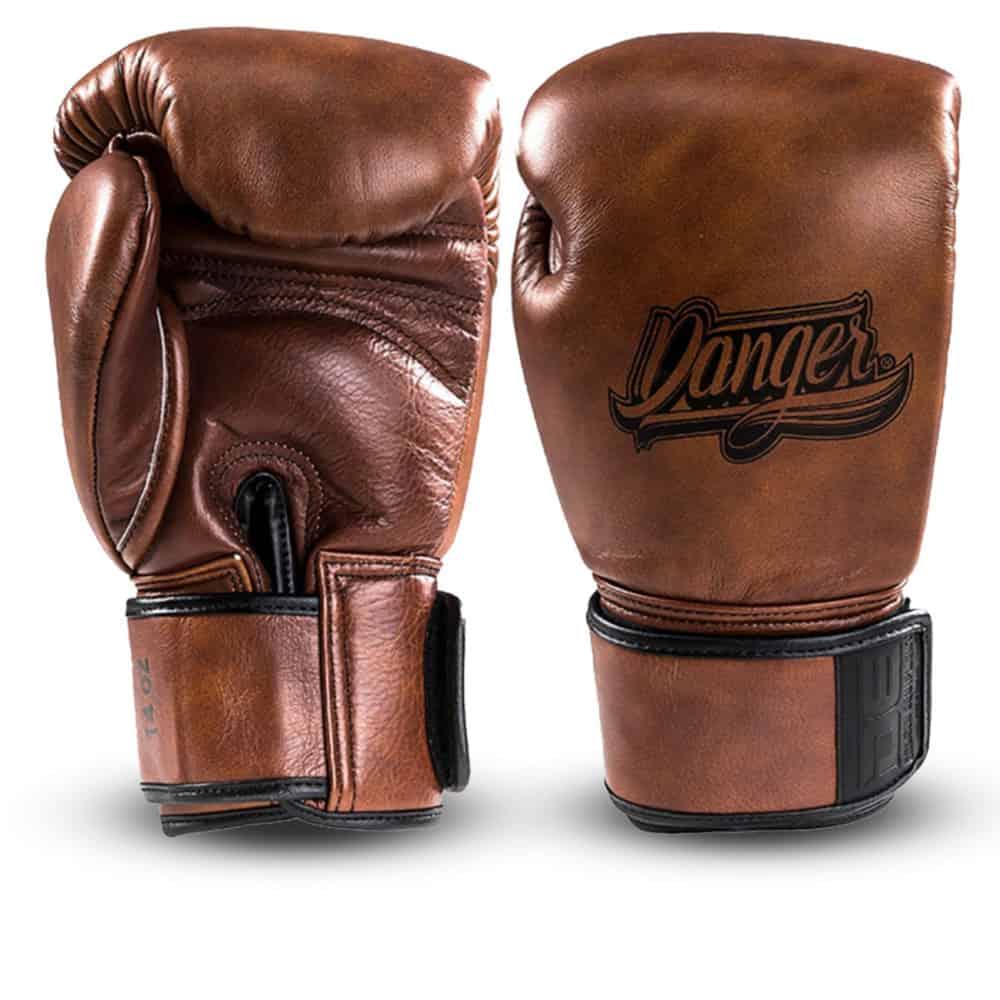 Boxningshandskar i vintageläder